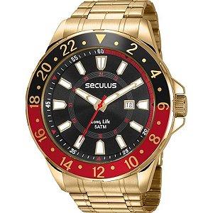 Relógio Seculus Masculino Long Life 23653GPSVDA2