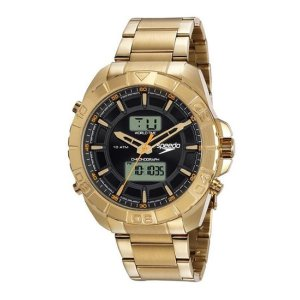 Relógio Speedo Masculino Anadigi Dourado