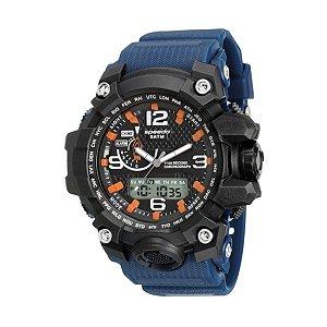 Relógio Speedo Masculino Pulseira Azul