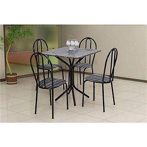 Sala De Jantar Artefamol Thais 4 Cadeiras Tampo Em Granito