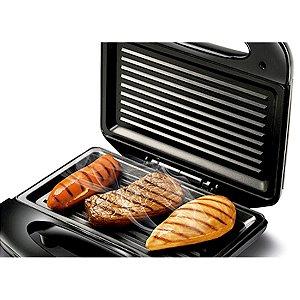 Sanduicheira Mondial Fast Grill e Sandwich Revestimento Antiaderente Trava de Fechamento Preta 127 Volts [S-12]