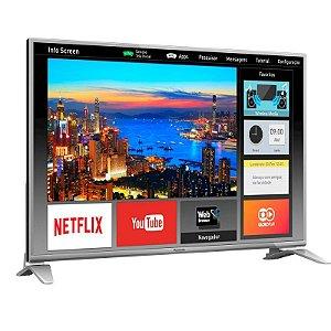 "Smart TV 43"" LED Panasonic FHD 3HDMI 2USB Swipe&Share Processador BCX Prata [TC-43ES630B PR]"