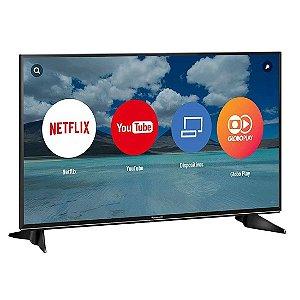 """Smart TV 43"""" LED Panasonic Ultra HD 4K Hexa Chroma Drive HDR 3HDMI 2USB Ultra Vivid Preta [TC-43EX600B]"""