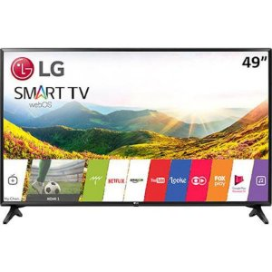 "Smart TV 49"" LED LG webOS 3.5 FHD 2HDMI 1USB Magic Mobile Connection Preta [49LJ5550]"