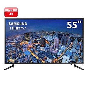 """Smart TV 55"""" LED Samsung Ultra HD 4K Flat HDMI USB Connect Share™ Preta [JU6000]"""
