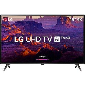"Smart TV LED 49"" LG 49UK6310 Ultra HD 4k com Conversor Digital 3 HDMI 2 USB Wi-Fi Webos 4.0 Dts Virtual X 60Hz - Preta"