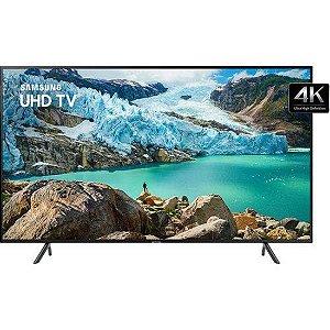 """Smart TV LED 65"""" Samsung 65RU7100 Ultra HD 4K com Conversor Digital 3 HDMI 2 USB Wi-Fi Visual Livre de Cabos Controle Remoto Único e Bluetooth"""