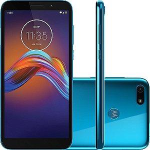 """Smartphone Moto E6 Play 32GB Dual Chip Android Tela 5.5"""" MT6739 4G Câmera 13MP - Azul Metálico"""