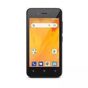 Smartphone Multilaser Ms40g Preto P9070, Dual Chip, Tela 4.0'', Android 8.1, Câmera 5mp, Memória 8gb - 3g