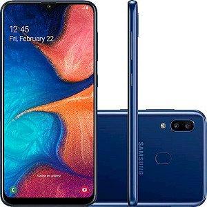 "Smartphone Samsung Galaxy A20 32GB Dual Chip Android 9.0 Tela 6.4"" Octa-Core 4G Câmera Dupla 13MP + 5MP - Azul"