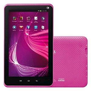 "Tablet Mondial Tb-11 Rosa Wi-Fi Câmera Frontal E Traseira RAM 512MB Tela 7"" Bivolt"