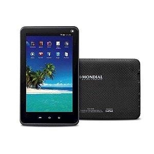 "Tablet Mondial Tb-12 Preto Wi-Fi Câmera Integrada RAM 512MB Tela 7"" Bivolt"