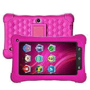 "Tablet Mondial TB-19 Kids Rosa, Tela 7"", WiFi, Android 7.1, 2MP, 8GB"