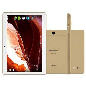 """Tablet Multilaser M10a 3G Tela 10"""" Wi-fi Android 7.0 Câmera 5.0 Mp Processador Quad-Core Dourado [NB277]"""