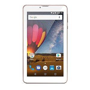 "Tablet Multilaser M7 3G Plus Tela 7"" Wi-fi Android 7.0 Câmera 2.0 Mp Processador Quad-Core Golden Rosa [NB271]"