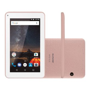 "Tablet Multilaser M7S Plus Tela 7"" Wi-fi Android 7.0 Câmera 2.0 Mp Processador Quad-Core Rosa [NB275]"