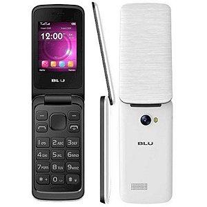 Telefone Celular Blu Diva Flex Branco Dual Chip Micro SD 32GB MP3 MP4 Câmera Com Flash