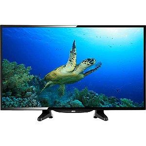 """TV 32"""" LED AOC HD 2HDMI 1USB Menu Dinâmico Conversor Digital Integrado Preta [LE32H1461]"""