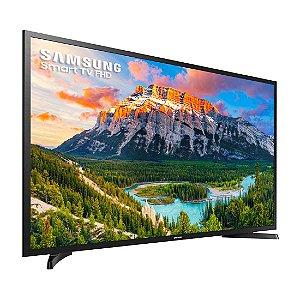 "TV 43"" Samsung LED HD Smart Wi-Fi Full HD 2 HDMI 1 USB Screen Mirroring + Web Browser Preta [UN43J5290AGXZD]"