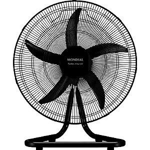 Ventilador de Mesa ou Piso Mondial 50cm 3 Velocidades Preto Bivolt [PRO-55]
