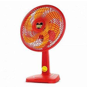 Ventilador Mallory Disney Mickey Mouse Ts, Vermelho e Amarelo, B94400811, Potência de 42W, 110V