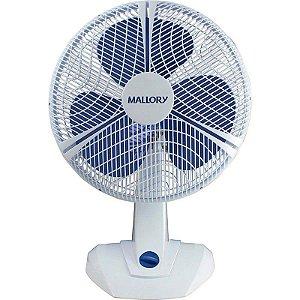 Ventilador Mallory Zefiro Branco 40cm 3 Pás 110V