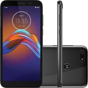 Smartphone Motorola Moto E6 Play 32GB Dual Chip Android 9 Tela 5.5  4G Câmera 13MP - Cinza Metálico