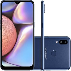 "Smartphone Samsung Galaxy A10s 32GB Dual Chip Android 9.0 6.2"" Octa-Core 4G Câmera 13MP+2MP Azul"