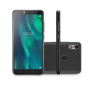 Smartphone Multilaser F Café Tela 5.5 Pol. Sensor de Digitais 16GB 3G 1GB RAM Câmera traseira 5MP + 5MP frontal - P9105