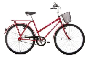 Bicicleta Houston Onix VB  Aro 26  Cor Vermelha