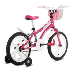 Bicicleta Houston Tina C/Bolsa Aro 26 Cor Rosa Pink