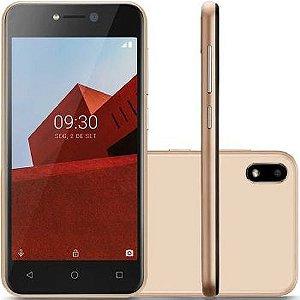 Smartphone Multilaser E 3G 16GB Tela 5.0 Quad Core Câmera traseira 5MP + 5MP frontal Dourado - P9102