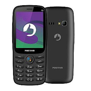 "Celular Positivo P70S 512MB 4GB* armazenamento 2,8"" - Preto"