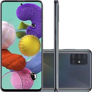 "Smartphone Samsung Galaxy A51 Android Tela 6,5"" Super Amoled Octa-Core 2.3 128GB 4G Câmera 48MP+12MP+5Mp - Preto"