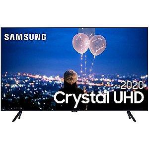 """Samsung Smart TV 55"""" Crystal UHD 55TU8000 4K, Wi-fi, Borda Infinita, Alexa built in, Controle Único, Visual Livre de Cabos, Modo Ambiente Foto e Processador Crystal 4K"""