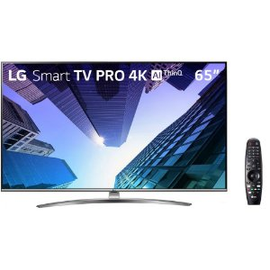 "Smart TV Tela 65"" Pro LG 65UM761C0SB Ultra HD 4K com Conversor Digital Wi-Fi 2 USB 4HDMI"