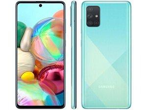 """Smartphone Samsung Galaxy A71 128GB Azul 6GB RAM - Tela 6,7"""" Câm. Quádrupla Câm. + Selfie 32MP"""
