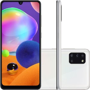 "Smartphone Samsung Galaxy A31 Dual Chip Android 10 Tela 6.4"" Octa-Core 128GB 4G Câmera Quádrupla 48MP+8MP+5MP+5MP- Branco"