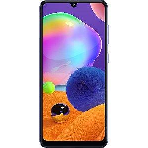 "Smartphone Samsung Galaxy A31 Dual Chip Android 10 Tela 6.4"" Octa-Core 128GB 4G Câmera Quádrupla 48MP+8MP+5MP+5MP - Azul"