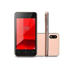 Smartphone Multilaser E Lite 3G 16GB Tela 4.0 Quad Core Câmera traseira 5MP + 5MP frontal Dourado - P9100 30