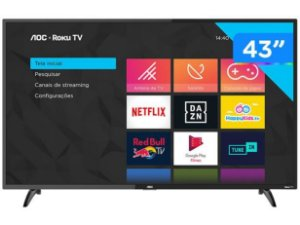 "Smart TV Full HD LED 43"" AOC 43S5195/78G - Wi-Fi 3 HDMI 1 USB"