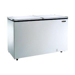 Freezer e Refrigerador Horizontal Esmaltec (Dupla Ação) 2 Tampas 468 Litros ECH500