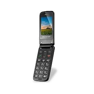 Telefone Celular Idoso Bluetooth Flip Vita Multilaser 32mb