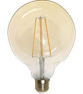 Lâmpada G125 Filamento - Led 4W - 2200K - E27 Bivolt