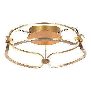 Plafon Lumina French Gold com Led integrado - 47x17cm
