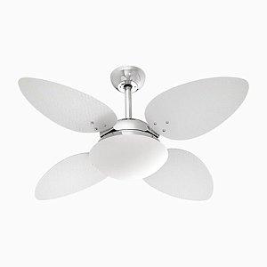 Ventilador  62420 Cromado/Branco 220V