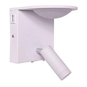 Arandela HSR Branca com USB integrado 8w - MB3072A