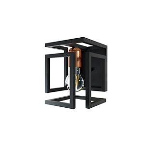 Arandela BOX OR511 Preto/Bronze
