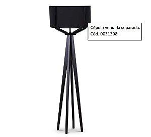 Coluna para Luminária de Piso 1005 Preta