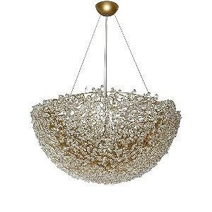 Pendente Taza ninho cristais ouro
